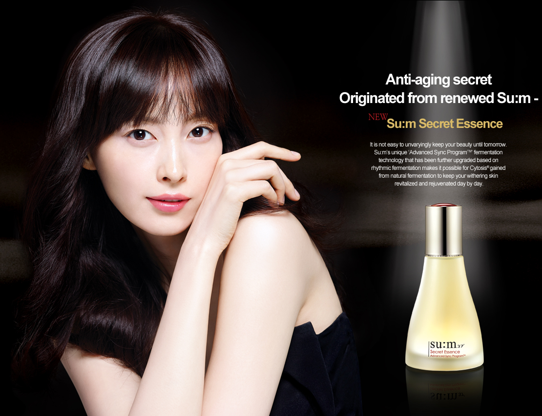 anti-aging scret originated from renewed su:m-37  su:m secret essence